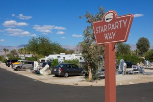 Star Party Way in the RV park.