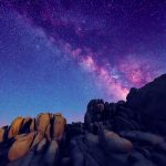 The Milky Way with boulders